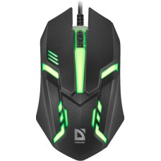 Мышь проводная Defender Cyber MB-560L, оптическая, проводная, USB, черный [52560]