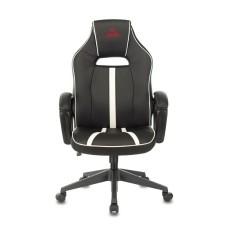 Кресло игровое Бюрократ, черный/белый искусственная кожа [VIKING ZOMBIE A3 WH]