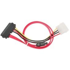 Комбинированный кабель Cablexpert MOLEX+SATA -> SATA 15-pin + 7-pin [CC-SATA-C1]