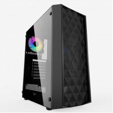 Корпус Powercase Diamond Mesh 1x120mm fan, черный [CMDM-L1]