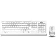 Комплект (клавиатура+мышь) A4 Fstyler F1010, проводной, белый/серый, F1010 WHITE