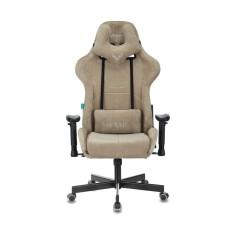 Кресло игровое Бюрократ VIKING KNIGHT LT21 FABRIC песочный крестовина металл