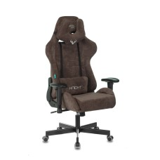 Кресло игровое Бюрократ VIKING KNIGHT LT10 FABRIC коричневый крестовина металл
