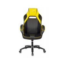 Кресло игровое Бюрократ, черный/желтый искусст.кожа/ткань [VIKING 2 AERO YELLOW]