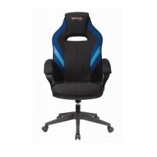 Кресло игровое Бюрократ VIKING 3 AERO BLUE черный/синий искусст.кожа/ткань