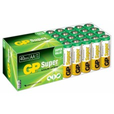Батарейка GP Super Alkaline 15A LR6 AA (40шт) [GP 15A-B40]