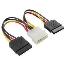 Разветвитель питания Cablexpert Molex -> 2xSATA 15см [CC-SATA-PSY]